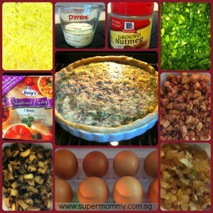 SuperMommy's Spinach & Mushroom Quiche Recipe