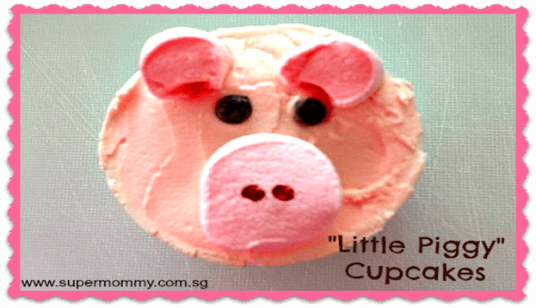 "How to Make & ""Little Piggy"" Cupcakes"