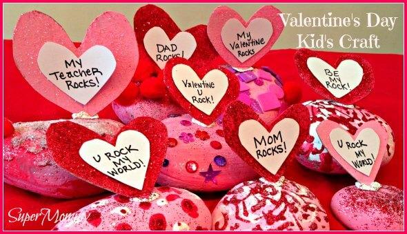 Valentine's Day Easy Craft for Kids – Conversation Rocks