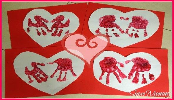 Valentine's Day Kid's Handprint Cards