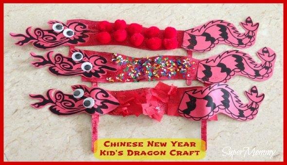 Chinese New Year Kid's Dragon Craft