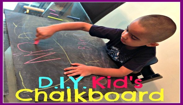 How To Make A Chalkboard for Your Kids