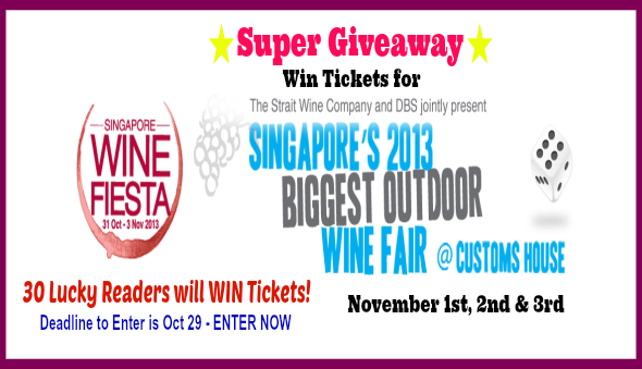 Singapore Wine Fiesta Tickets Giveaway!!