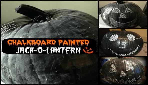 "Halloween ""Chalkboard"" Painted Jack-O-Lanterns"