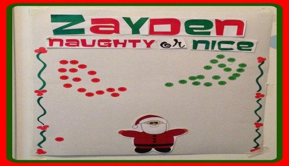 """""""Naughty or Nice"""" Christmas Behavior Chart"""