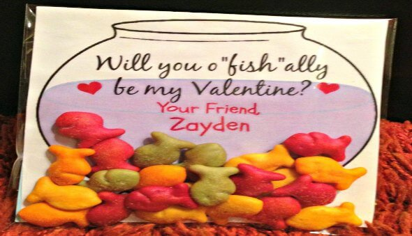 Fishbowl Valentine's Day Cards