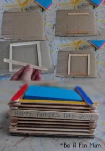 sticky pad holder, father's day, kids crafts, arts and crafts, father's day crafts, easy crafts