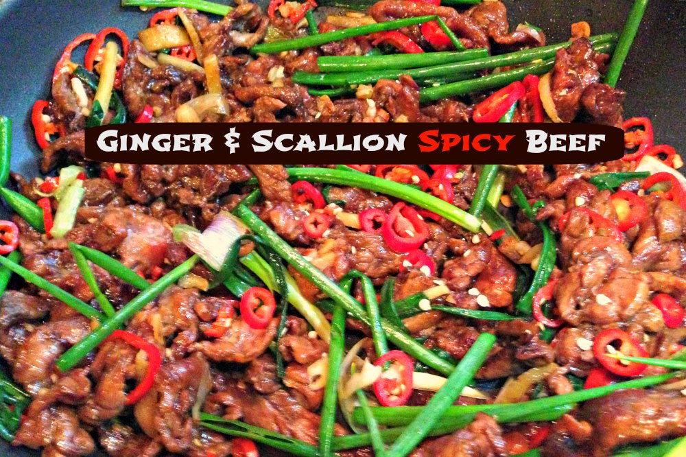 Ginger and Scallion Spicy Beef Recipe