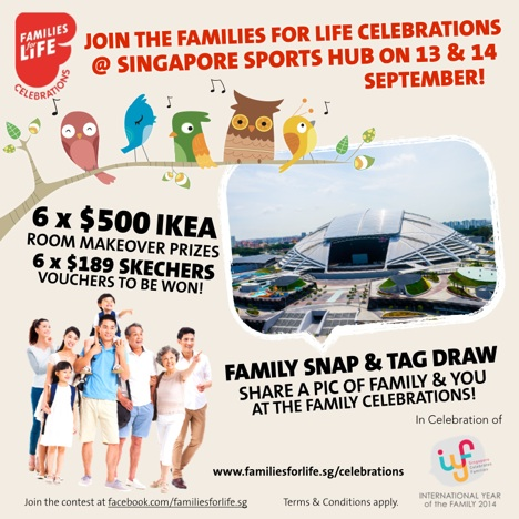 family, families for life, win, prizes, ikea, skechers, family time