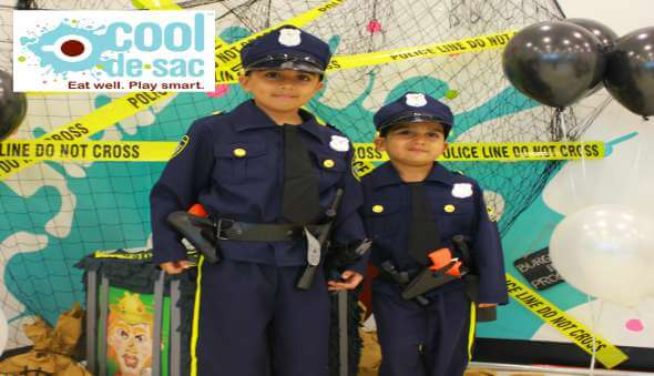 A 'Cops & Robbers' Themed Birthday Party at Cool de Sac