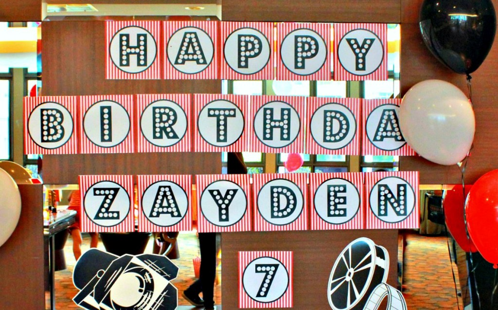 Free Printable Movie Night Pirate Themed Birthday Party Banner