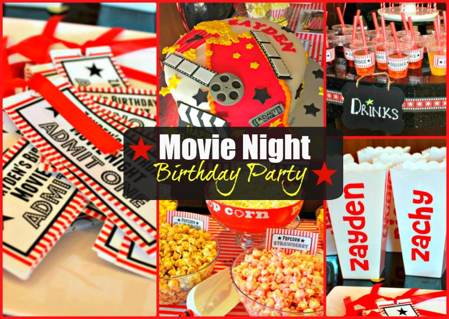 Movie Night Birthday Party
