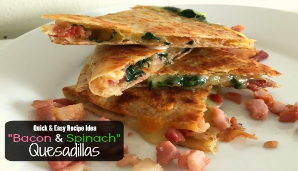 """Bacon & Spinach Quesadillas"" / Easy Kid Friendly Recipe"