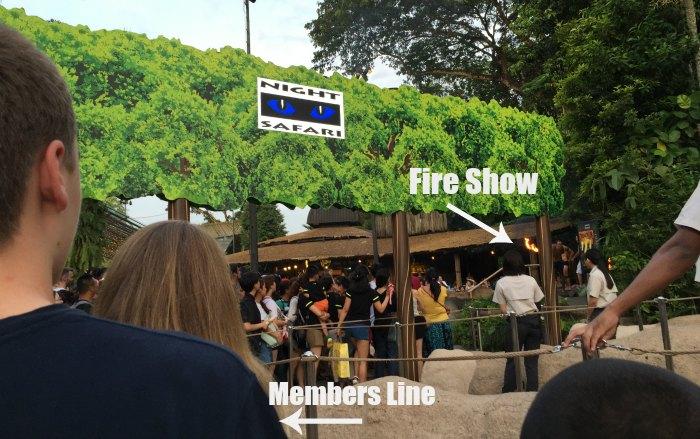 Singapore Night Safari Fire Show