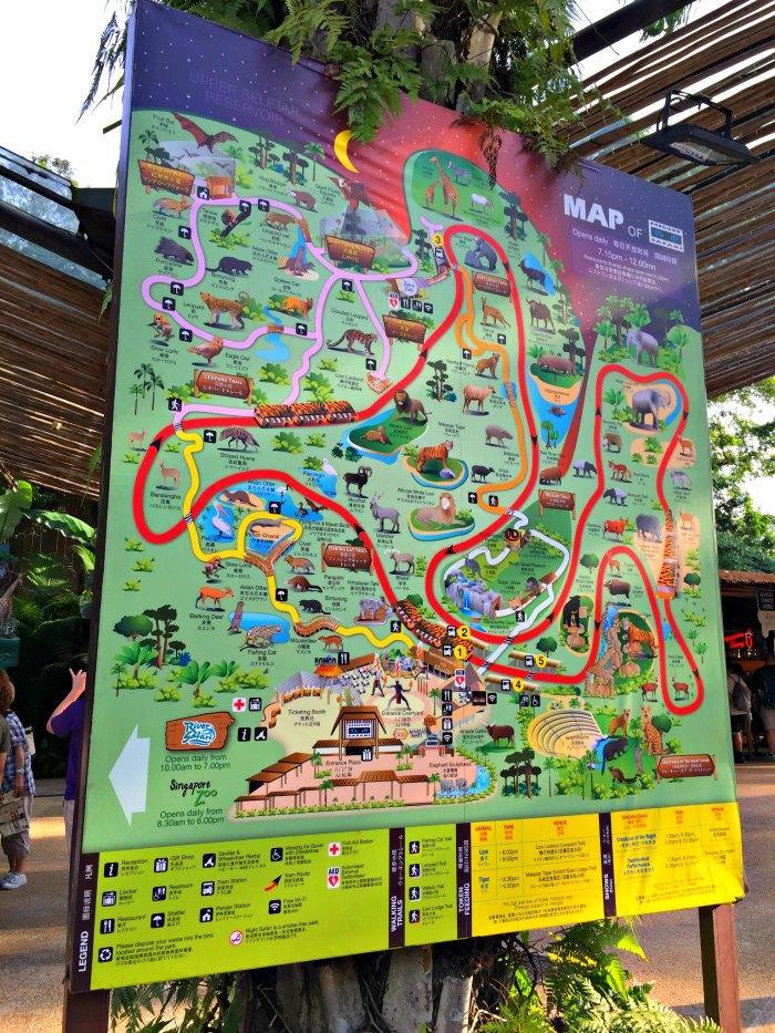 Singapore Night Safari Map