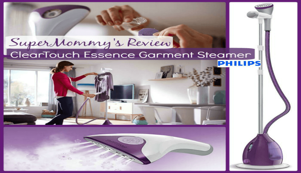 Philips NEW ClearTouch Essence Garment Steamer Review & Giveaway!!