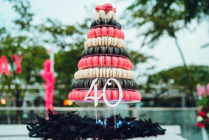 Fabulous 40th Birthday Wedding Planning Party Venue Cake Macarons Decorations Flowers Ideas Singapore Photobooth