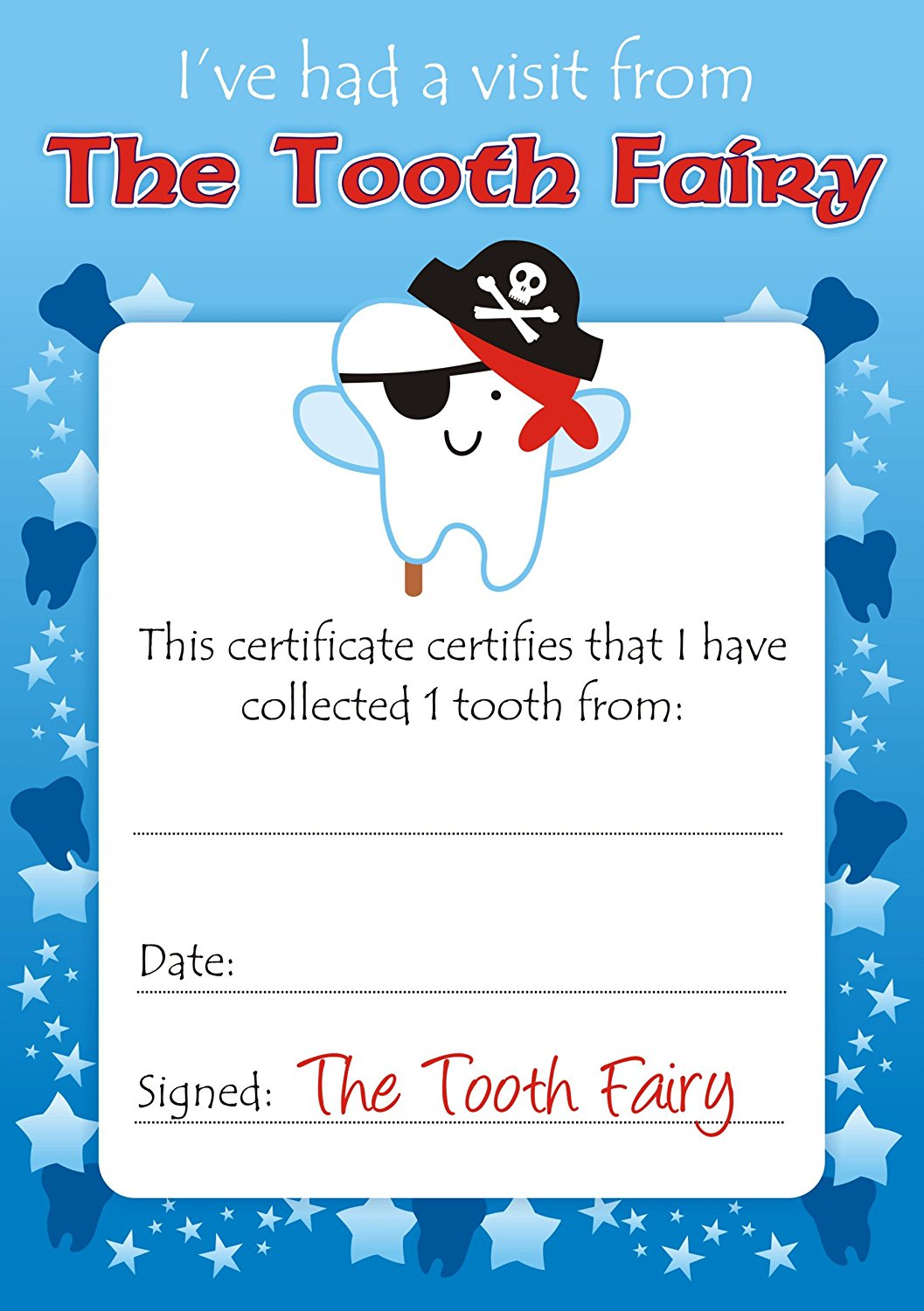 tooth fairy certificate 2