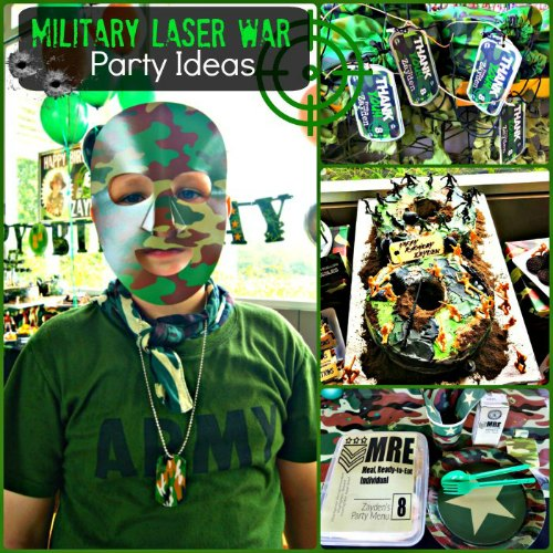 Military Camouflage Laser Tag Army Birthday Party Ideas
