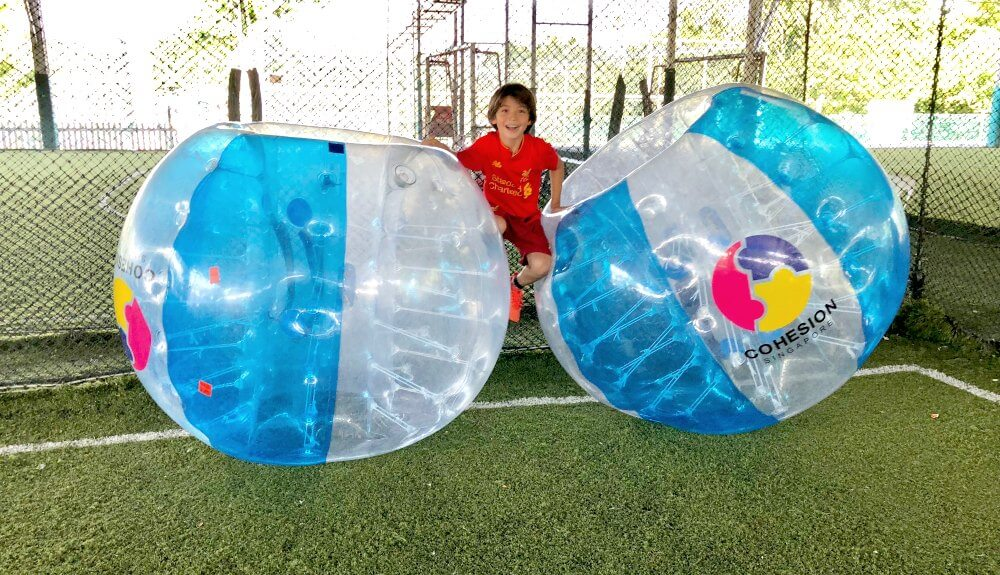 """Bubble Soccer"" Kids Birthday Party Theme Highlights!"