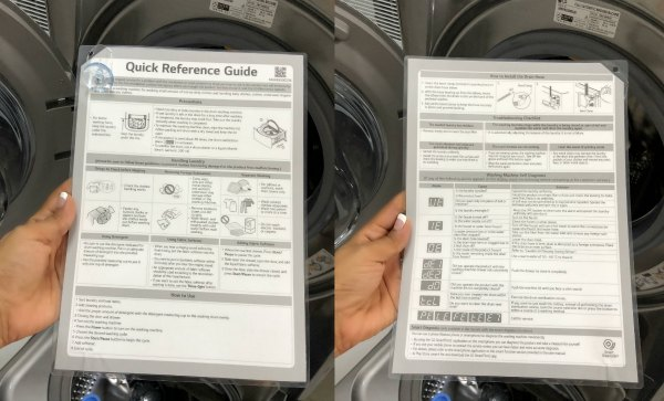 LG TWINWash Quick Reference Guide Manual Instructions