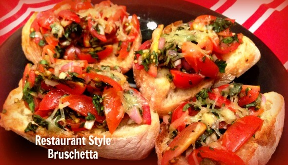 Restaurant Style Bruschetta Recipe