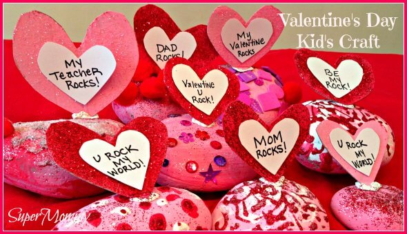 Valentine's Day Easy Craft for Kids – Conversation Rocks
