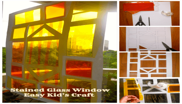 Make Your Own Stained Glass Window – Easy Kid's Craft Idea