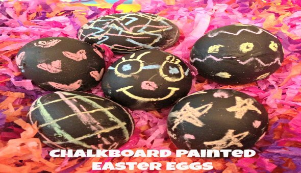 Chalkboard Painted Easter Eggs – If You Mess Up Just Erase It!