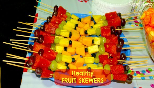 Fruit Skewers – A Healthy Kid's Party Food Idea