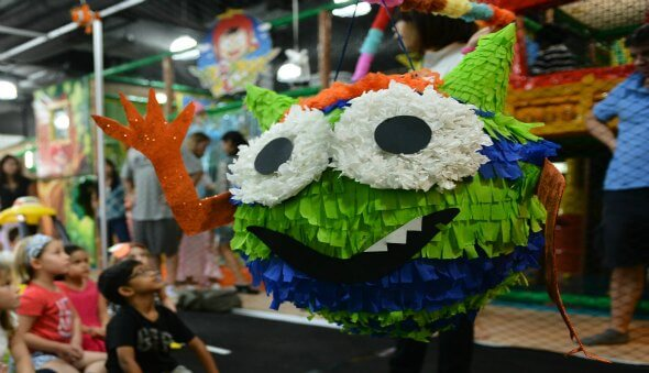"The Adventures of ""Monster Rock"" – A DIY Birthday Piñata"