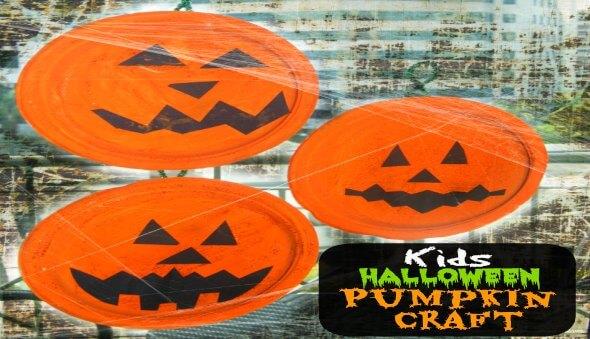 Pumpkin Paper Plate Kid's Craft