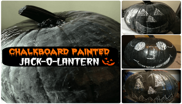 "Halloween ""Chalkboard"" Painted Jack-O-Lanterns"