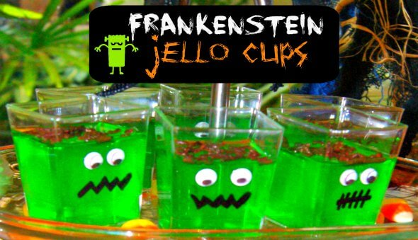 Frankenstein Jello Cups