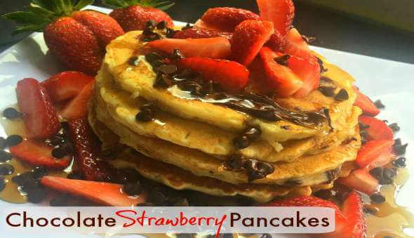 "Quick & Easy ""Chocolate Strawberry Pancakes"" Recipe"