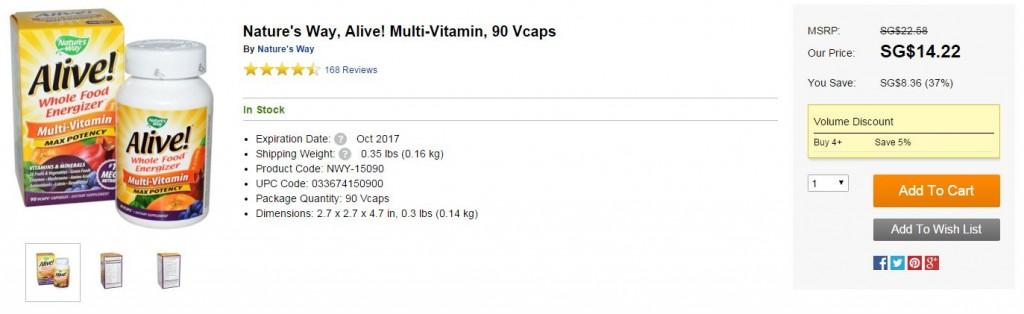 iHerb vitamins supplements singapore