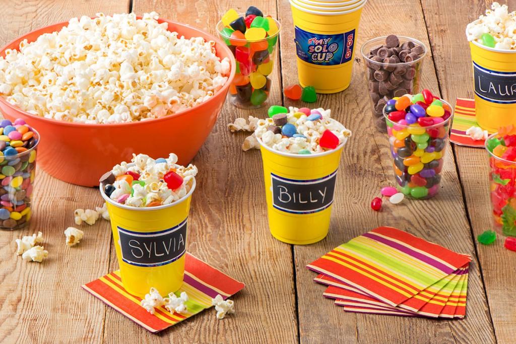 DIY Popcorn Bar Party Wedding Birthday Movie Night Party Ideas