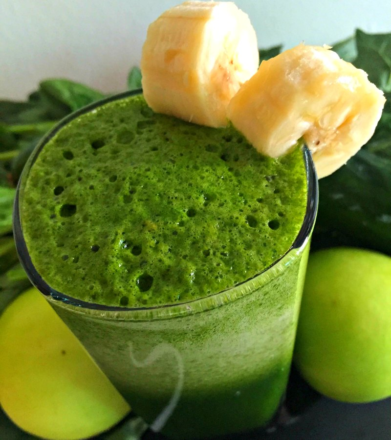 Healthy Green Juice Spinach Lemonade Shake Recipe Kids Low Calorie No Sugar Added