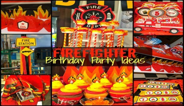 """Firefighter"" Themed Kids Birthday Party Ideas"