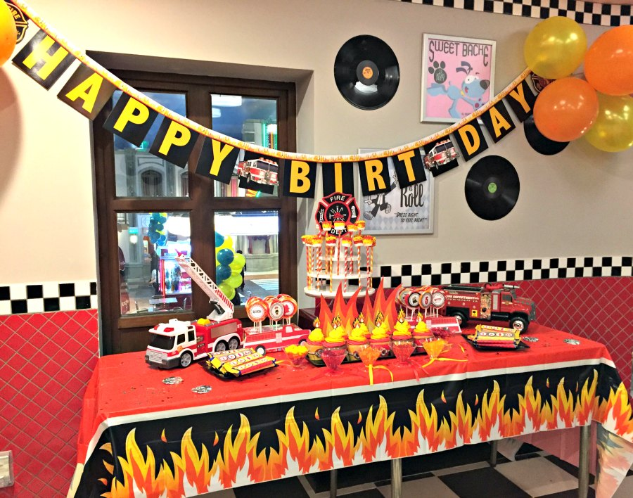 firefighter theme birthday party 4