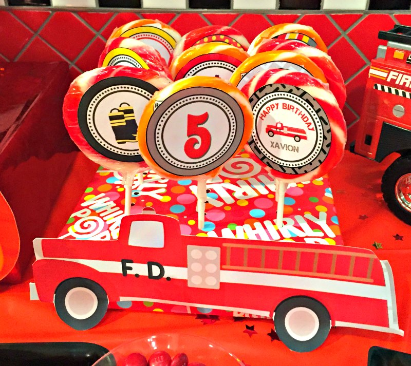 firefighter themed kids birthday party 12