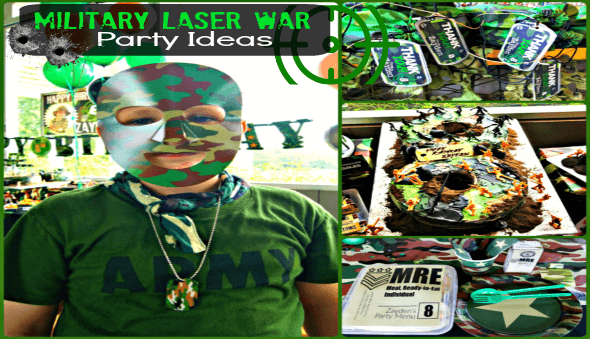 """Camouflage / Military"" Themed Birthday Party Ideas"