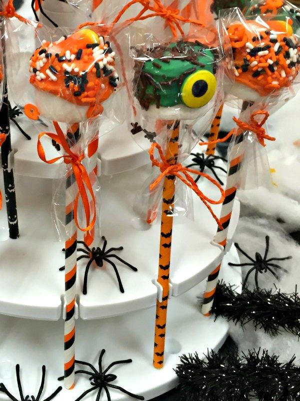 15 Halloween marshmallow monster cake pop dessert party food ideas
