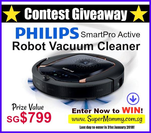 10 Philips SmartPro Active Robot Vacuum Cleaner Contest Giveaway Review Promotions Discounts