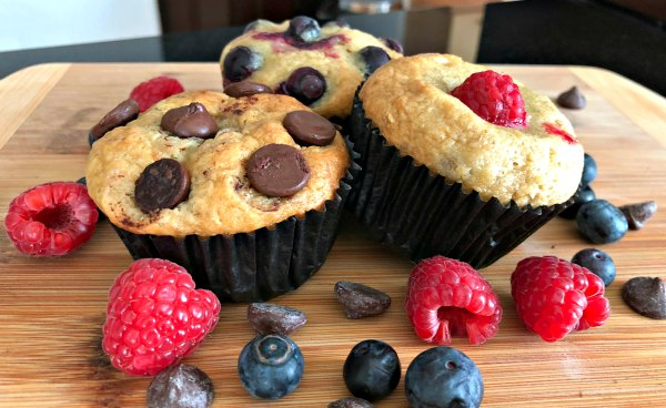 Healthy Banana Chocolate Blueberry Muffin Recipe Kids Picky Eaters Easy 3