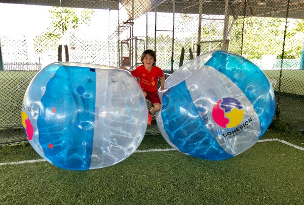 Bubble Soccer Bubble Bump Singapore Kids Birthday Party Package Unique Birthday Venue 3