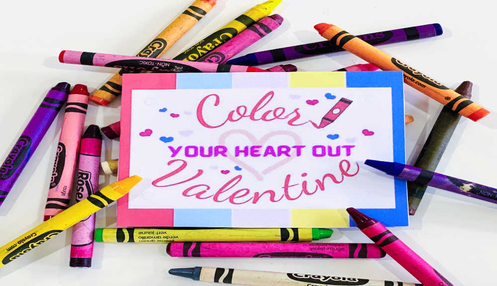"""Color Your Heart Out"" – FREE Valentine's Day Printable"