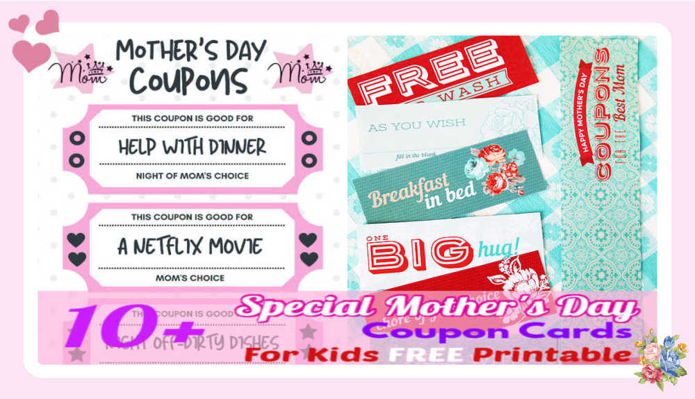 "10+ Special Mother's Day ""Coupon"" Cards for Kids – FREE Printables"